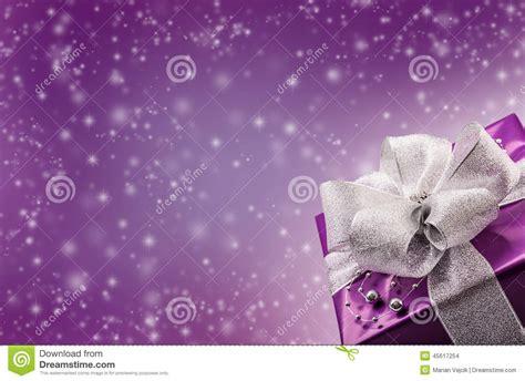 christmas  valentines purple gift  silver ribbon
