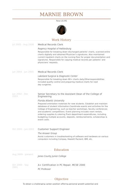 records clerk resume sles visualcv resume