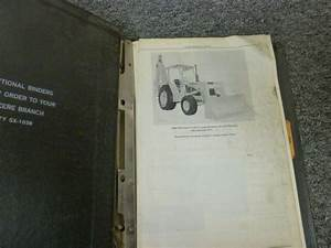 John Deere Parts Catalog Pc 1240 Jd 510 Backhoe Loader