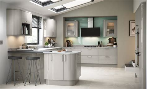 Zola Gloss Contemporary Cashmere   Kitchen Stori