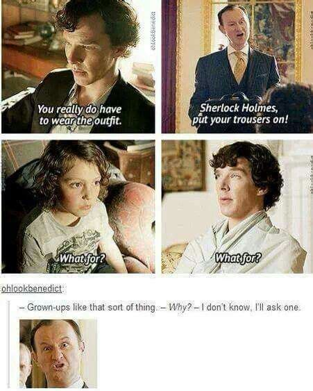 sherlock bbc mycroft wedding funny holmes john watson he johnlock quotes children archie young laughing child explained came could sherlolly