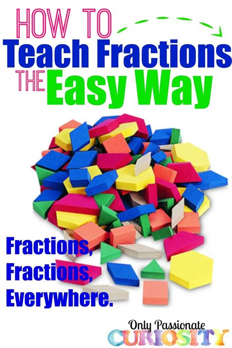 How To Teach Fractions The Easy Way  Only Passionate Curiosity