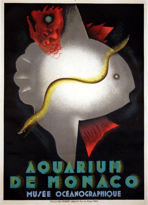 aquarium cote d azur affiche cote d azur aquarium de monaco 1926 jean carlu www vintage posters fr