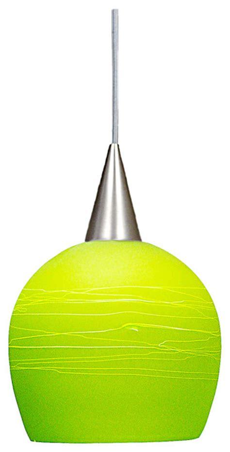studio series pendant lime green brushed nickel