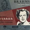 Kathleen Ferrier, Johannes Brahms - Four Serious Songs ...