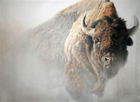 art country canada robert bateman chief american bisonc