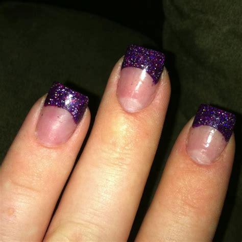 Purple Sparkle Gel Nails