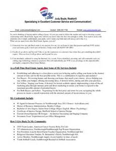 real estate resume sle sles of resumes