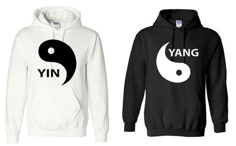 Anime Couple Hoodies Yin Yang Couple Hoodie Sweatshirt By Capricorntees On Etsy