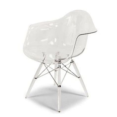 clear eames style eiffel dining arm chair acrylic chairs
