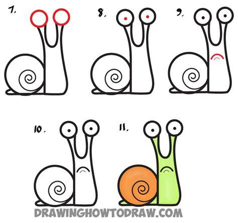 draw cartoon snail  lowercase letter  easy