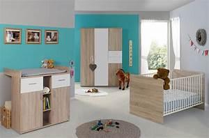 Babybett Sonoma Eiche Umbaubar : kinderzimmer babyzimmer elisa 3 in eiche sonoma wei ~ Indierocktalk.com Haus und Dekorationen