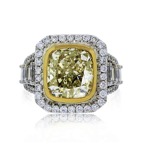 562ct Fancy Light Yellow Cushion Cut Diamond Engagement Ring. Kris Humphries Ring Engagement Rings. Humongous Engagement Rings. € 10000 Rings. Heirloom Rings. Timeless Style Engagement Rings. Mountain Wedding Rings. Western Rings. Elven Rings