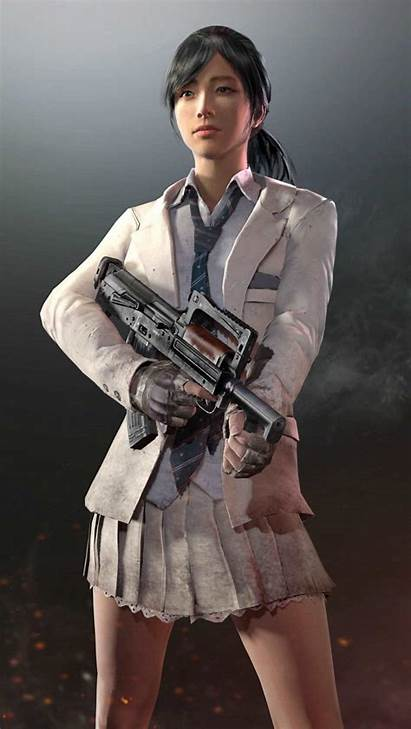 Pubg Uniform Female Player Ivory Wallpapers Mobile