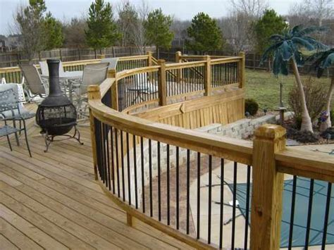 deck railing ideas pool pinterest deck railings