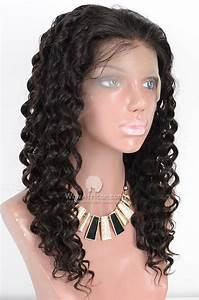 Natural Color Deep Wave Brazilian Virgin Hair Full Lace