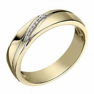 perfect fit men39s 9ct yellow gold diamond wedding ring h With mens yellow gold wedding rings