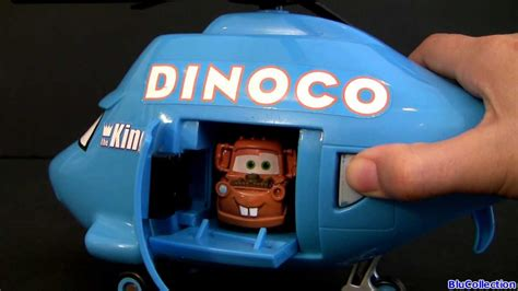 mater rides dinoco helicopter airplane disney pixar cars