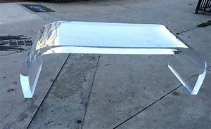 waterfall lucite coffee table for sale at 1stdibs With lucite coffee tables for sale