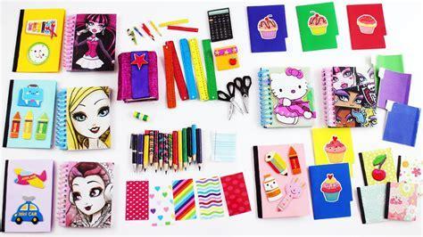 Útiles escolares en miniatura para muñecas, cuadernos