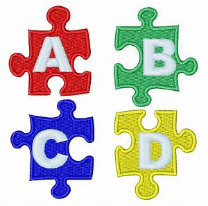 jigsaw puzzle letters embroidery design annthegran With puzzle letters