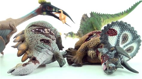 Dead Triceratops, Stegosaurus Corpse