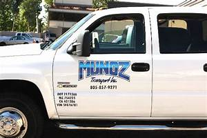 sign company custom signs graphics car wraps autos post With company truck lettering