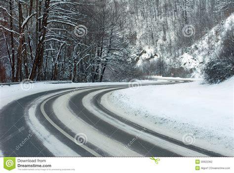 winter road stock photo image  skid cold brake