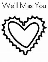 Coloring Missed Clipart Miss Heart Clipartmag sketch template