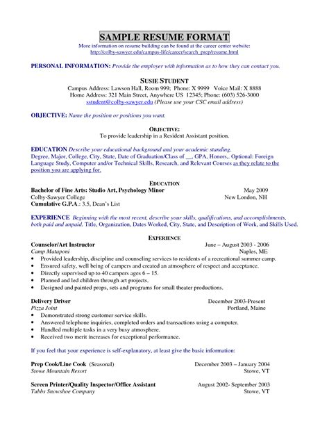 good resume objective for college graduate teenage resume exles getessay biz