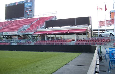 bmo field rolltec retractable awnings toronto ontario canada