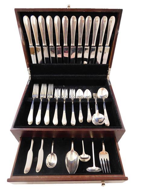 sterling silver salem flatware tiffany pcs dinner service