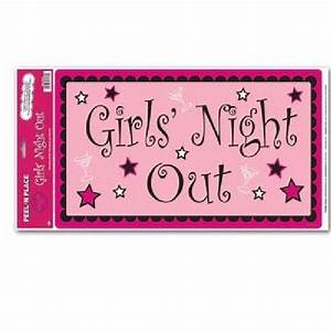 Bachelorette Party Peel 'N Place Girls' Night Out Banner ...