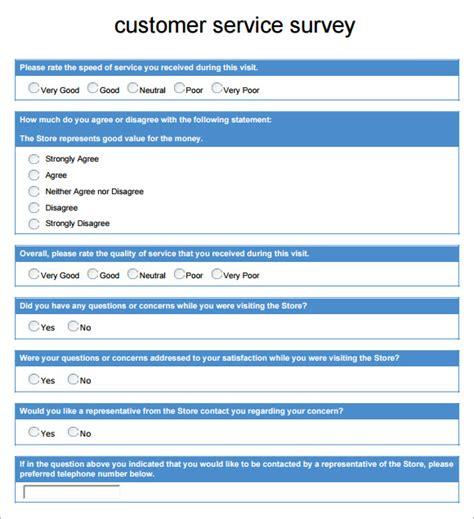 sample customer survey templates  google docs