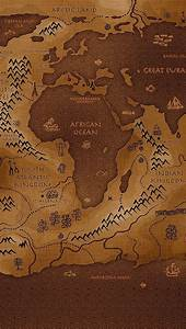 iPhone Wallpaper Old world map in sepia