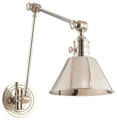 garden city one light wall sconce with adjustable arm