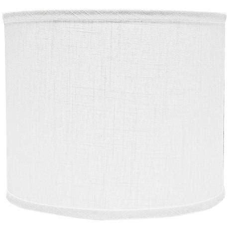 white linen l shade white linen drum l shade 12x12x10 spider