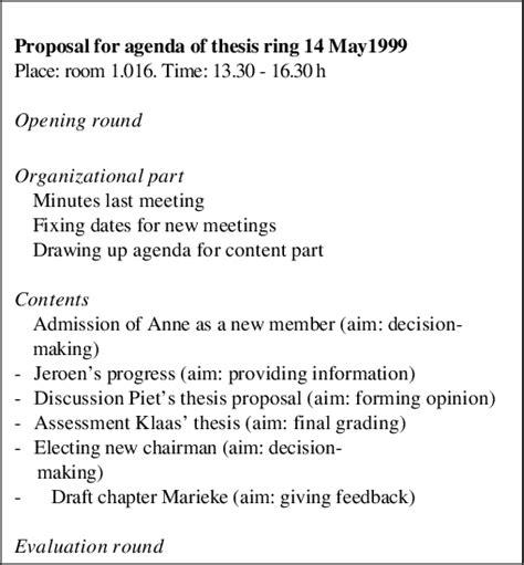sample  format templates writing  agenda template