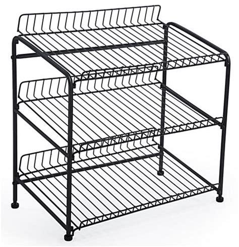 wire display racks wire countertop display rack 3 open shelves for