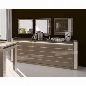 buffet lina cappuccino avec led 3 miroirs achat With meuble salle À manger avec buffet bas salle À manger design