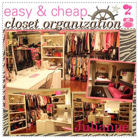 Diy Closet Organization Ideas On A Budget by Easy Cheap Closet Organization Polyvore Closet