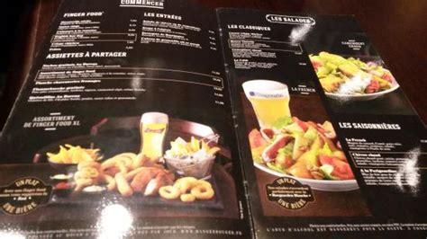menu au bureau au bureau foto di au bureau parigi tripadvisor