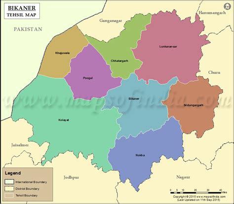 bikaner tehsil map bikaner tehsils