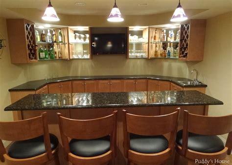 Basement Bar Backsplash by Basement Bar Diy Backsplash Puddy S House