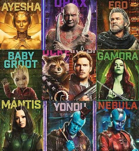 guardians   galaxy vol   character posters