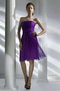 purple bridesmaid dresses cheap buy cheap a line strapless chiffon bridesmaid dress in purple