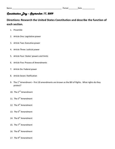 13 Best Images Of 4th Amendment Worksheets And 5 And 6  The Fourth Amendment, 10 Amendments