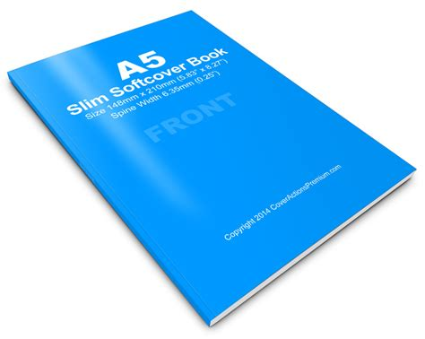Thin Book Template by Slim A5 Softcover Book Mock Up Cover Actions Premium