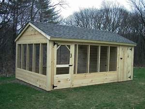 Outdoor wooden backyard pet kennel runs for Outside wooden dog kennels
