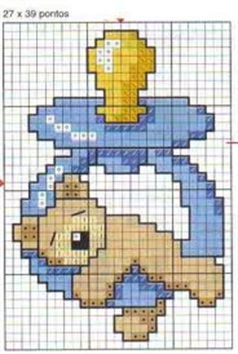 cadre point de croix ourson endormi sur le t 233 tine grille point de croix cadre de naissance toutes les grilles